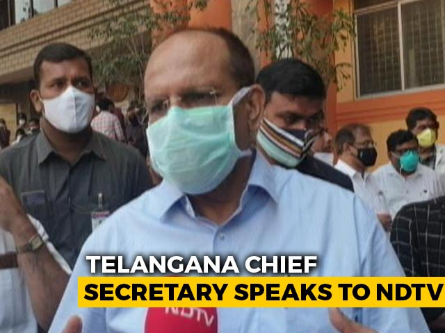 """Video : """"Good Sign Many People Want To Get Vaccinated"""": Telangana Chief Secretary"""