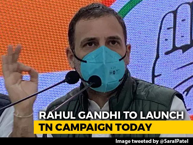 Video : Rahul Gandhi To Launch Tamil Nadu Poll Campaign From Coimbatore Today