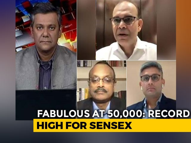 Video : Sensex Trades Above 50,000-Mark For First Time: Should You Invest Or Be Cautious?