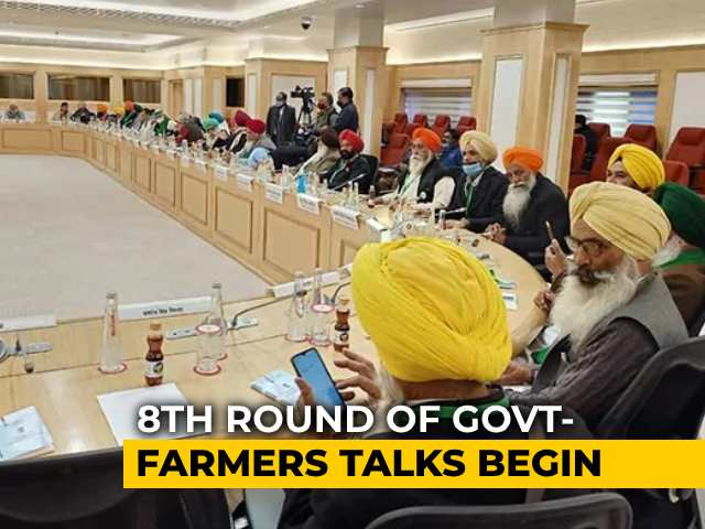 "Video : ""Repeal Farm Laws"": Farmers Reiterate Demand In 8th Round Of Talks"