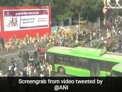 Watch: Protesting Farmers Vandalise Police Vehicle At Delhi's ITO