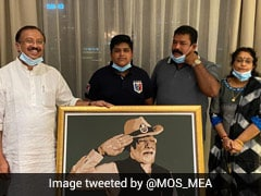 Indian Student In Dubai Makes Portrait Of PM Modi As Republic Day Gift