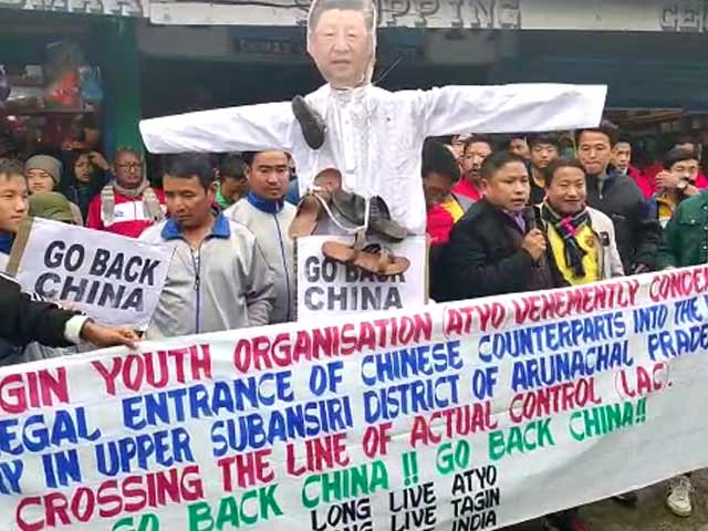 "Video : ""We Are Indians"": Protests Break Out In Arunachal Pradesh Over Chinese Village"