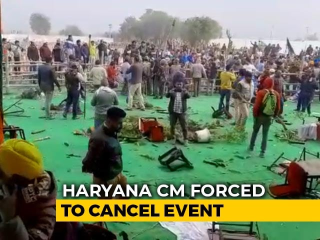 Video : Haryana Chief Minister Cancels Farmer's Meet After Protesters Tear-Gassed