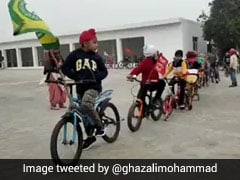 """Watch: Punjab Children's """"Cycle Rally"""" Backing Republic Day Tractor Rally"""