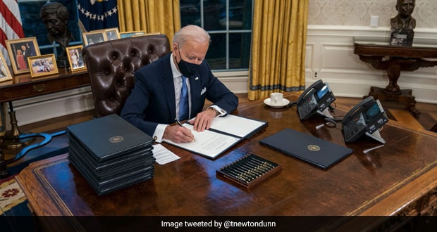US President Joe Biden Removes Donald Trump