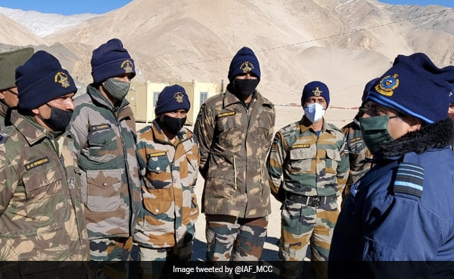 Air Force Chief RKS Bhadauria Visits Ladakh To Review Security
