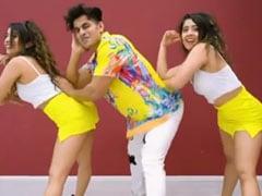 चिंकी मिंकी ने कोरियोग्राफर आदिल खान के साथ किया 'जलेबी बेबी' पर डांस, Video मचा रहा है धूम