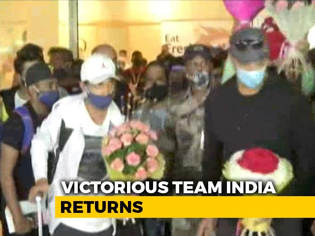 Video : After A Historic Win At The Gabba, Team India Return Home