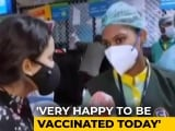 Video : Hospital Ward Attendant Nagaratna Gets First Covid Vaccine Shot In Karnataka