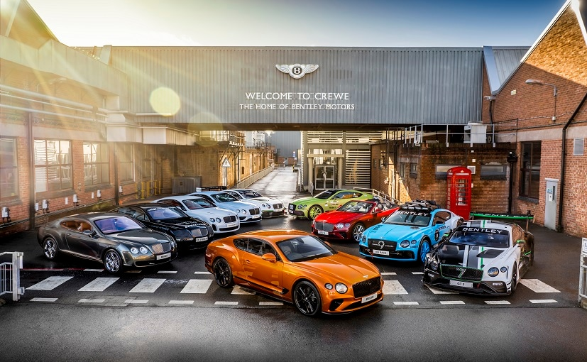 Bentley drew on its heritage fleet to show the evolution of the Continental GT since 2003