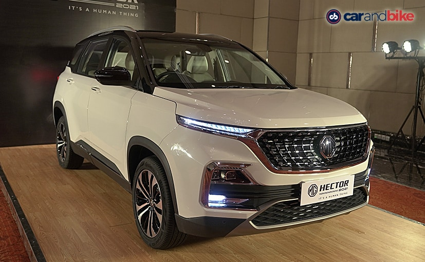 The MG Hector facelift gets updated looks and more features.