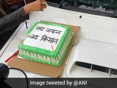 Farmer Unions Celebrate Birthdays Of Members Outside Vigyan Bhawan In Delhi