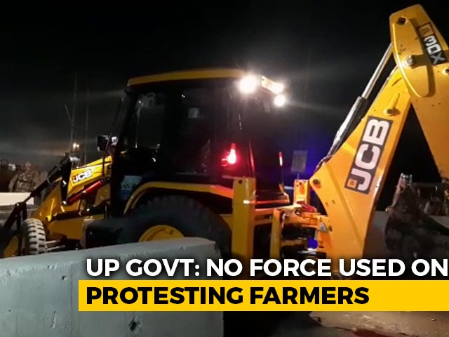 Video : Protesters Vacated From Site In UP, Officials Say No Force Used