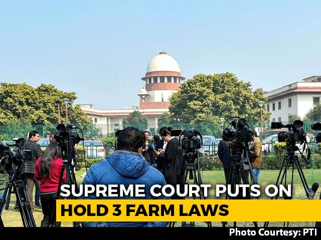 """Video : """"These Are Matters Of Life And Death"""": Supreme Court As It Stays 3 Farm Laws"""