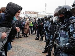 Russia Detains Over 4,400 At Protests Against Jailing Of Kremlin Critic