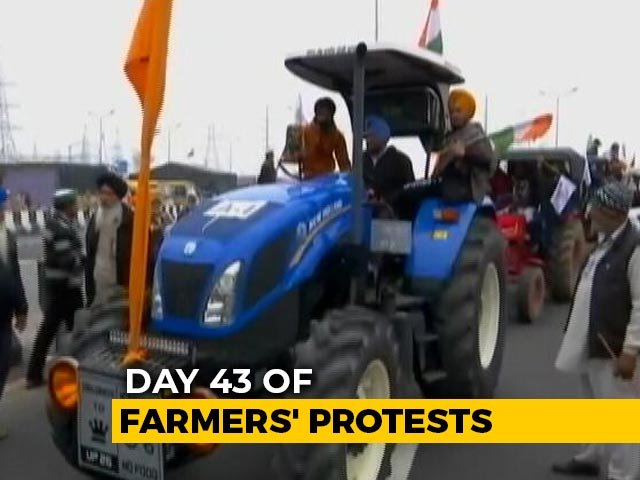 Video : Tractor Rally By Farmers Near Delhi Today