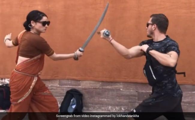अंकिता लोखंडे ने बेबाक अंदाज में की तलवारबाजी, फिर यूं घुड़सवारी करती आईं नजर- Viral हो रहा है Video