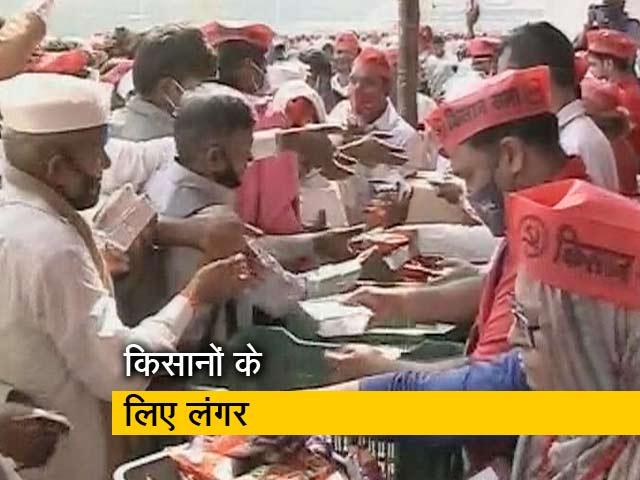 Video: मुंबई के आजाद मैदान में प्रदर्शनकारी किसानों के लिए लंगर का इंतजाम