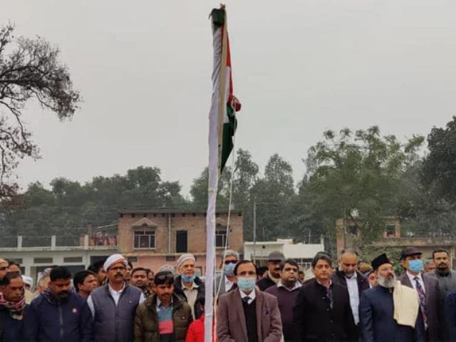 Video : Ayodhya Mosque Work Starts On Republic Day With Tricolour Hoisting