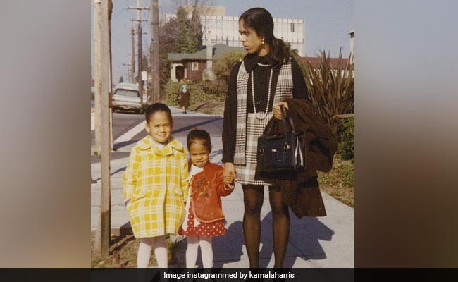 Kamala Harris Shares Childhood Photos, Writes Note On Mother's Influence