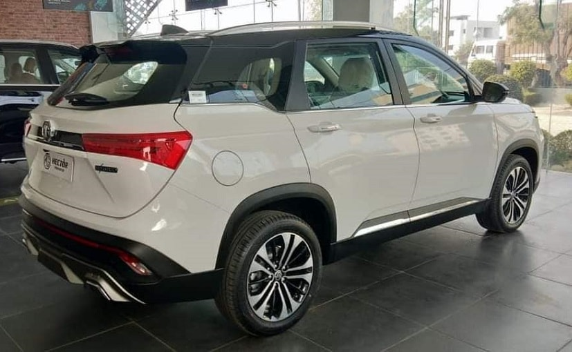 The MG Hector facelift will come with a new grille and new alloy wheels