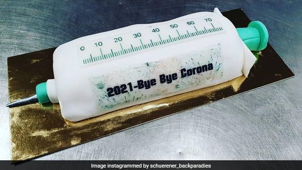 German Bakery Celebrates Year Of Covid Vaccine With Syringe-Shaped Cakes