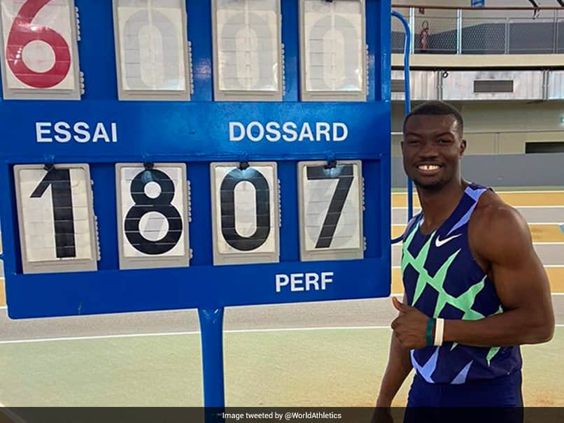 Burkina Fasos Hugues Fabrice Zango Smashes Indoor Triple Jump World Record