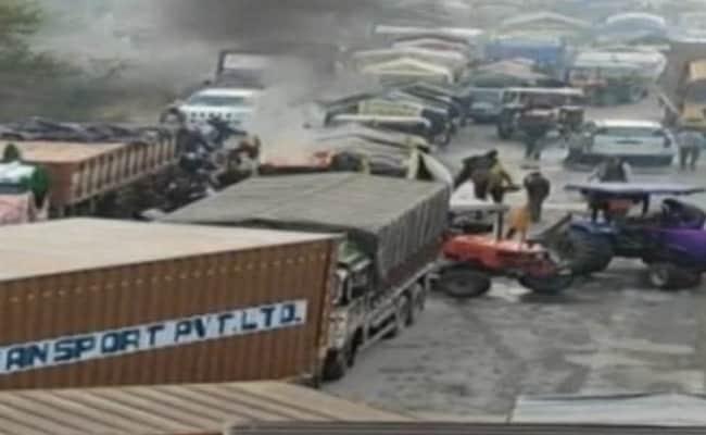 Farmers In Haryana Attempt To March Towards Delhi, Face Tear Gas Shells