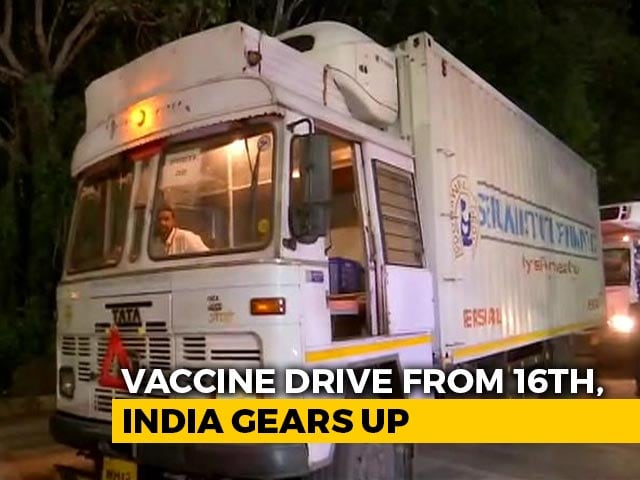 Video : First Batch Of Covishield Vaccines Leaves Pune For Distribution