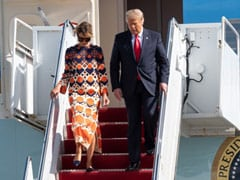 Donald Trump, Wife Melania Arrive At Mar-a-Lago Home In Florida