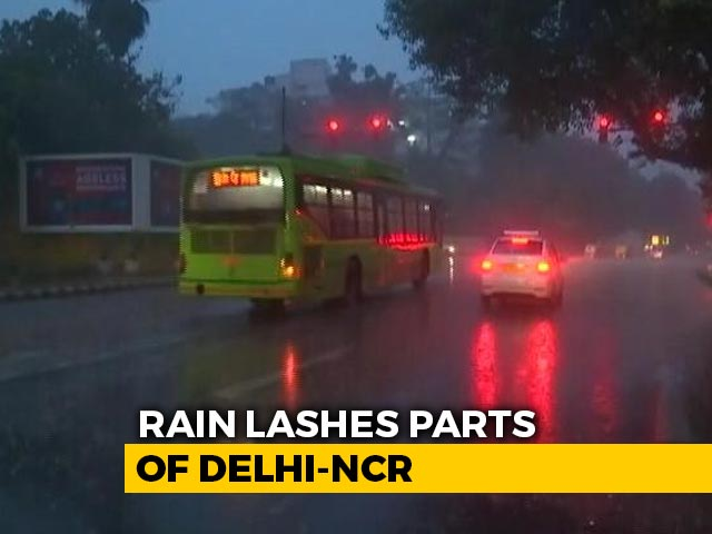 Video : Moderate To Heavy Rain In Delhi, Nearby Areas For Second Consecutive Day