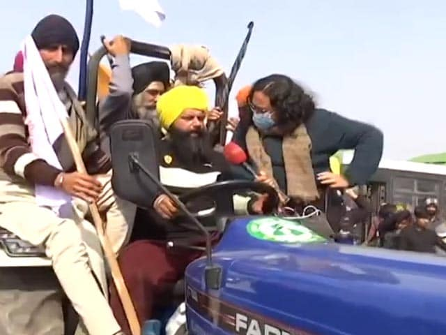 """Video : """"We Can't Control Such A Huge Protest"""": Farmer On Tractor Rally"""
