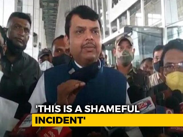 "Video : Devendra Fadnavis Demands ""Inquiry"" In Maharashtra Hospital Fire Incident"