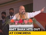 "Video : Amit Shah Promises ""Infiltrator-Free"", ""Flood-Free"" Assam, Skips CAA"