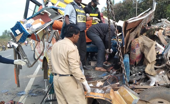 11 Dead After Tempo Collides With Truck In Karnataka, 5 Critical