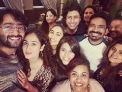 Pics From Ekta Kapoor, Shaheer Sheikh-Ruchikaa Kapoor, Krystle D'Souza And Ridhi Dogra's Get-Together