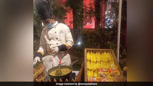 Twitter User's Photo Of 'Maggi Counter' At Cousin's Wedding Goes Viral