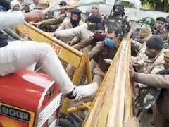 Haryana Protesters Push Past Police Barricade Outside BJP Minister House
