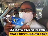 "Video : ""I Am A Commoner"": Mamata Banerjee Queues Up For State Health Card"