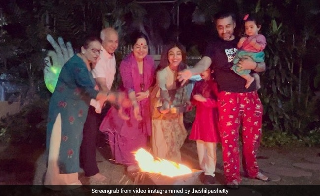 Lohri 2021: Inside Shilpa Shetty And Raj Kundra's Celebrations With Family