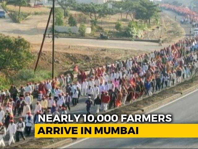 Video : Massive Farmers' Rally At Mumbai's Azad Maidan Today