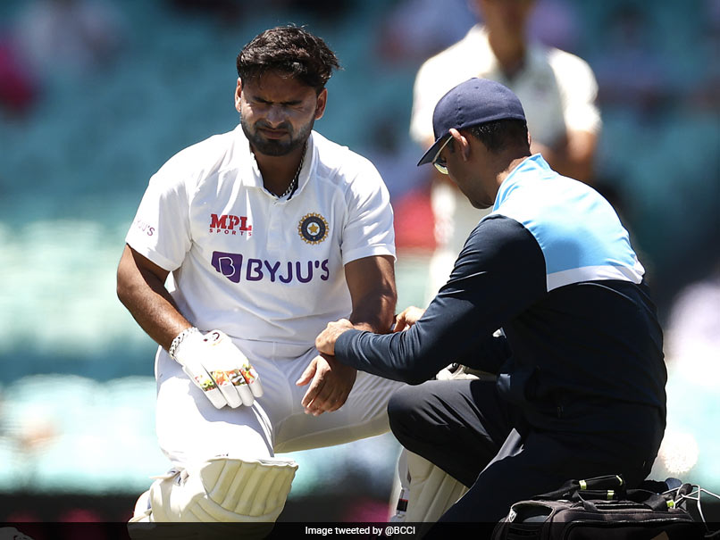 "AUS vs IND, 3rd Test: Rishabh Pant ""Taken For Scans"" After Being Hit On Left Elbow While Batting"