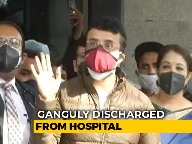 Video : Sourav Ganguly Discharged From Hospital After Angioplasty