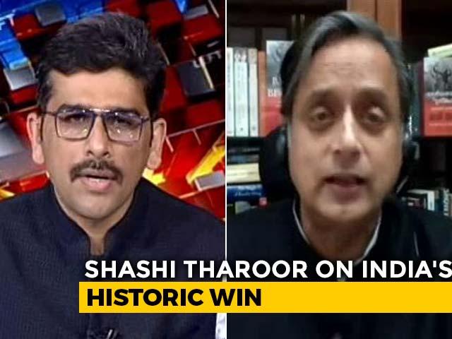 Video : How Shashi Tharoor Described India's Win Against Australia
