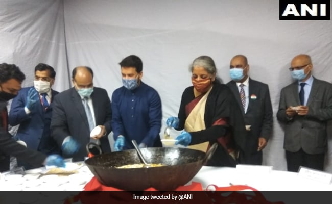 Halwa Ceremony, Mobile App Launch Ahead Of 'Paperless' Union Budget 2022