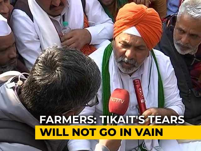 Video : Won't Let Police End This Protest, Says Farmer Leader Rakesh Tikait