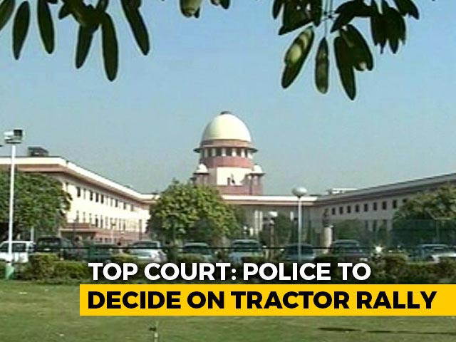 Video : Farmers' R-Day Tractor Rally: Cops To Decide, Says Supreme Court
