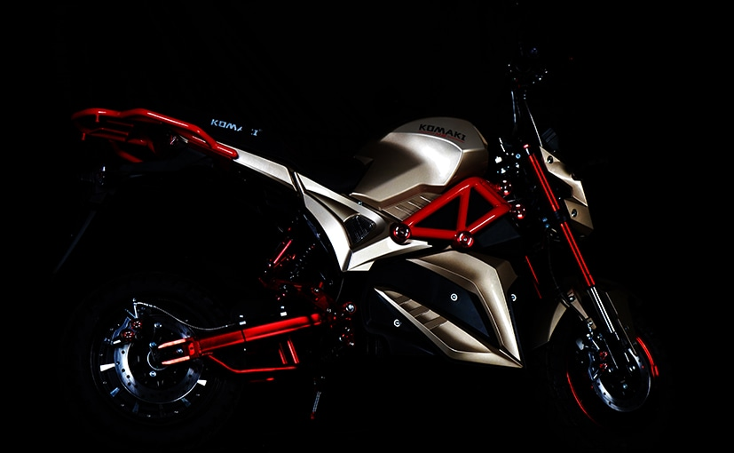 The Komaki M5 is an electric motorcycle with range of up to 120 km on single charge