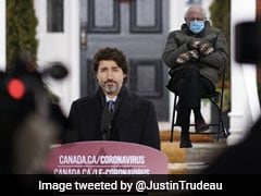 Justin Trudeau Co-Opts Bernie Sanders Meme To Urge Canadians To Stay Home